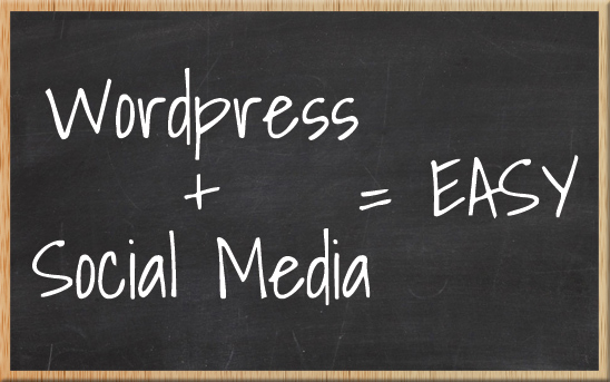 WordPress + Social Media = Easy